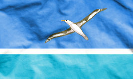 Flagge von Midway Islands Lizenzfreies Stockfoto