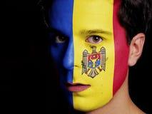 Flagge von Moldau Lizenzfreie Stockfotos