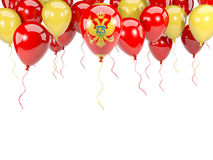 Flagge von Montenegro auf Ballonen Stockfotos
