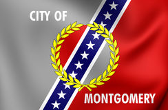Flagge von Montgomery City Alabama, USA Lizenzfreie Stockfotografie