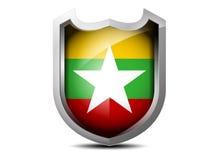 Flagge von Myanmar Stockbilder