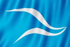 Flagge von Neuquen-Stadt, Argentinien Lizenzfreies Stockbild