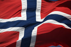 Flagge von Norwegen Stockfoto