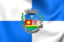 Flagge von Nova Iguacu City, Brasilien Lizenzfreies Stockbild