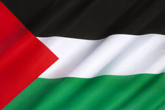 Flagge von Palästina Stockfoto