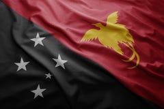 Flagge von Papua-Neu-Guinea Lizenzfreie Stockfotografie