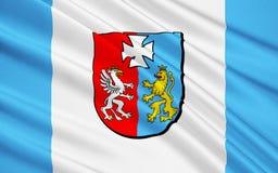 Flagge von Podkarpackie Voivodeship in extrem-südöstlichem Polen stockfoto