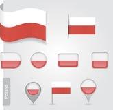 Flagge von Polen Stockfotografie