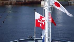Flagge von Polen-Marine stock video
