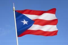 Flagge von Puerto Rico - das Karibische Meer Stockfotos