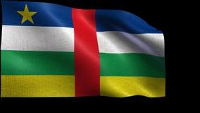Flagge von Republik Zentralafrika - nahtlose SCHLEIFE stock footage