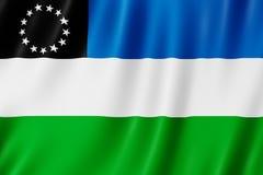 Flagge von Rio Negro Province, Argentinien Stockfoto