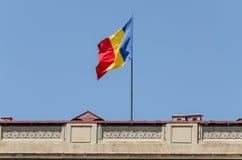 Flagge von Rumänien Stockbild