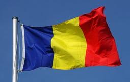 Flagge von Rumänien Stockfotografie