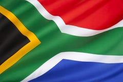 Flagge von Südafrika Stockfotos