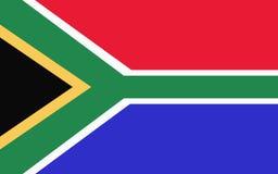 Flagge von südafrikanischem stock abbildung