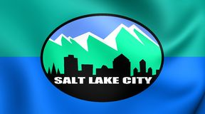 Flagge von Salt Lake City, USA Stockbild