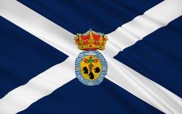 Flagge von Santa Cruz de Tenerife ist eine Provinz von Spanien lizenzfreie abbildung