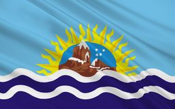 Flagge von Santa Cruz ist eine Provinz in Argentinien vektor abbildung