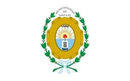 Flagge von Santa Fe de la Vera Cruz ist die Hauptstadt von Santa Fe stockbild