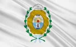 Flagge von Santa Fe de la Vera Cruz ist die Hauptstadt von Santa Fe lizenzfreie abbildung