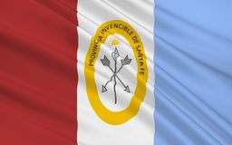 Flagge von Santa Fe ist eine Provinz in Argentinien vektor abbildung