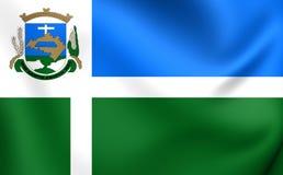 Flagge von Santo Cristo City, Brasilien Stockfoto