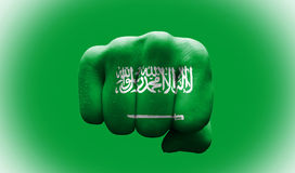 Flagge von Saudi-Arabien Stockfotos