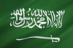 Flagge von Saudi-Arabien Stockfotografie