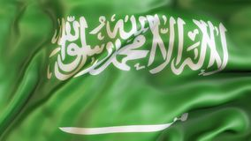 Flagge, Flagge von Saudi-Arabien aufgebend Lizenzfreies Stockbild