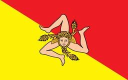 Flagge von Sizilien, Italien stock abbildung