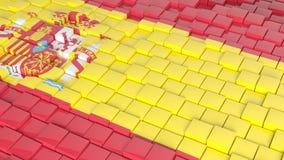 Flagge von Spanien stock abbildung