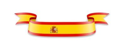 Flagge von Spanien in Form von Wellenband Vektor Abbildung
