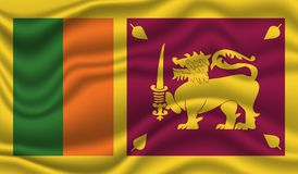 Flagge von Sri Lanka stockfoto