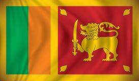 Flagge von Sri Lanka Lizenzfreies Stockbild