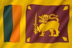 Flagge von Sri Lanka Stockfotos