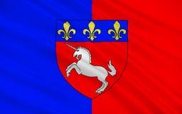 Flagge von St Lo, Frankreich lizenzfreies stockbild
