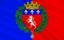 Flagge von St Lo, Frankreich stockfotografie