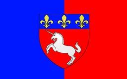 Flagge von St Lo, Frankreich lizenzfreie stockfotos