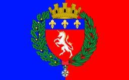 Flagge von St Lo, Frankreich stockbild
