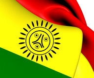 Flagge von Stammes- Nation Jatibonicu Taino von Boriken Stockbild