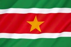 Flagge von Surinam Stockbilder