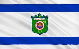 Flagge von Tel Aviv, Israel vektor abbildung