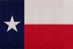 Flagge von Texas Grunge Lizenzfreie Stockbilder