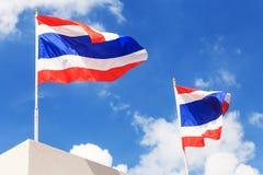 Flagge von Thailand Stockbild