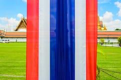 Flagge von Thailand in Wat Pha Kaew Lizenzfreie Stockbilder