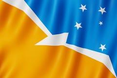 Flagge von Tierra del Fuego Province, Argentinien Lizenzfreies Stockfoto