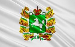 Flagge von Tomsk Oblast, Russische Föderation lizenzfreie abbildung
