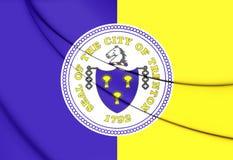 Flagge von Trenton City New Jersey, USA Stockbilder