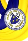 Flagge von Trenton City New Jersey, USA Lizenzfreies Stockfoto